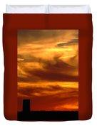 Tower In Sunset Duvet Cover