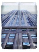 Tower Of Steel And Stone Duvet Cover