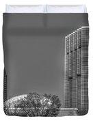 Tower Place Stripped Buckhead Atlanta Art Duvet Cover