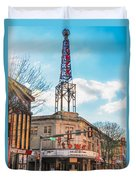 Tower Theater - Upper Darby Pa Duvet Cover