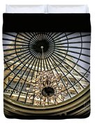 Tower Through Glass Dome In Bellagio Ceiling Duvet Cover