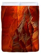 Towering Fiery Walls Duvet Cover