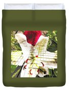 Towering Lily And Rose Duvet Cover