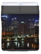 Towering Over The River Duvet Cover