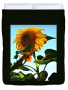 Towering Sunflower Duvet Cover