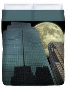 Towers To The Moon Duvet Cover