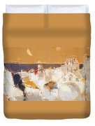 Town At The Seaside Duvet Cover