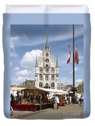 Town-hall And Marketplace Duvet Cover