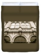 Town Hall, Arch And Windows Duvet Cover