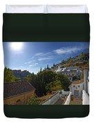 Town In A Valley, Sacromonte, Granada Duvet Cover