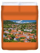 Town Of Drnis And Dalmatian Inland Panorama Duvet Cover
