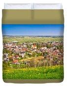 Town Of Ivanec Aerial Springtime View Duvet Cover