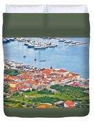 Town Of Seget Aerial View Duvet Cover