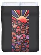 Town Of The Rising Sun Duvet Cover by Jutta Maria Pusl