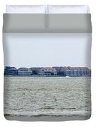 Town On The Water Duvet Cover