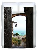 Town View In Italy Duvet Cover