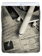 Toy Airplane II Duvet Cover