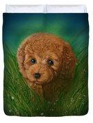 Toy Poodle Puppy Duvet Cover