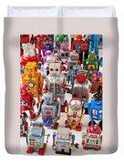 Toy Robots Duvet Cover