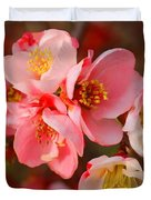 Toyo-nishiki Quince Blooms Duvet Cover