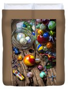 Toys And Marbles Duvet Cover by Garry Gay