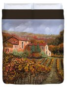 tra le vigne a Montalcino Duvet Cover