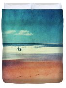 Traces In The Sand Duvet Cover