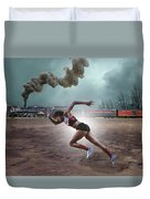 Track And Field Duvet Cover