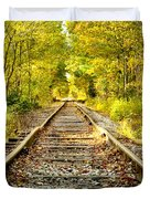 Track To Nowhere Duvet Cover by Greg Fortier