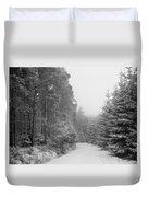 Track, Winter, Slaley Woods Duvet Cover