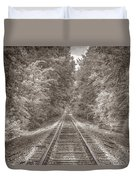 Tracks Bw Duvet Cover