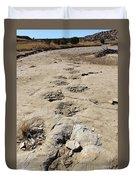 Tracks In The Desert 6 Duvet Cover