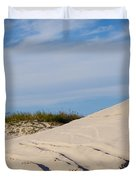 Tracks In The Sand Dunes Duvet Cover
