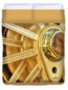 Traction Engine Wheel Duvet Cover
