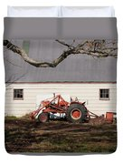 Tractor Barn Branch Duvet Cover