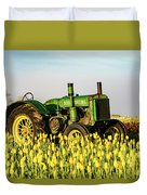 Tractor In A Field Duvet Cover