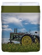 Tractor In Field Duvet Cover