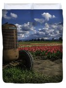 Tractor N' Tulips Duvet Cover