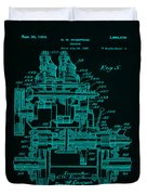 Tractor Patent Drawing 7f Duvet Cover
