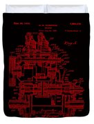 Tractor Patent Drawing 7j Duvet Cover