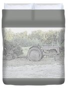 Tractor   Pencil Drawing Duvet Cover
