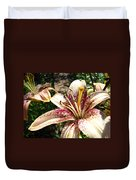 Traditional Art Lily Flowers Floral Garden Baslee Troutman Duvet Cover