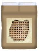 Traditional Bamboo Mud Wall Construction Duvet Cover