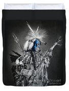 traditional dancer Blue Duvet Cover