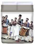 Traditional Drummers Duvet Cover