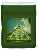 Traditional House Roth Germany Cross Process Holga Photography Duvet Cover
