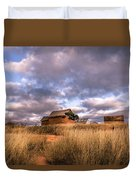 Traditional Hut Of Madagascar Countryside Duvet Cover