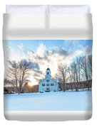 Traditional New England White Church Etna New Hampshire Duvet Cover