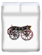 Traditional Painted Donkey Cart  Duvet Cover