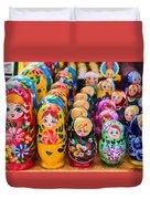 Traditional Russian Matrushka Nesting Puzzle Dolls Duvet Cover